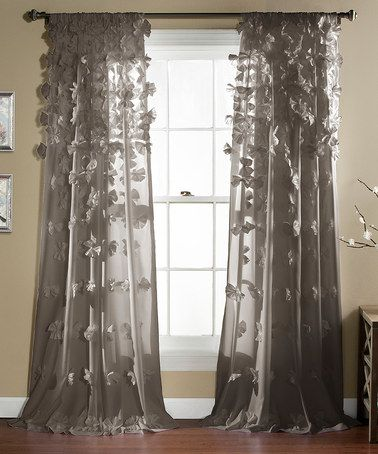 Gray Riley Window Curtain Panel Zulily Purple Bedrooms Panel