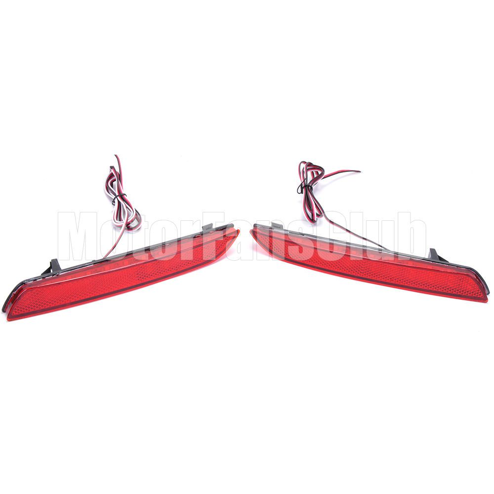 2PCS Car LED Rear Bumper Lamp Brake Light Red Lens