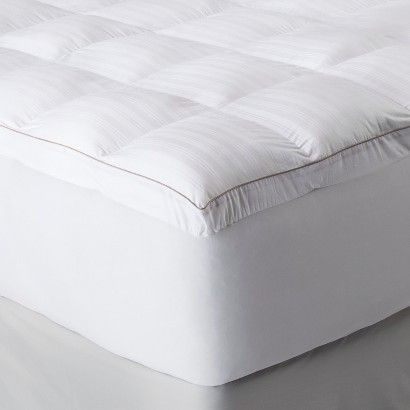 Fieldcrest 174 Luxury Memory Fiber Mattress Topper White