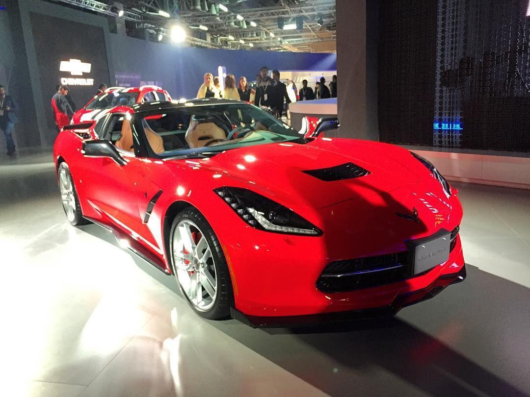 Chevrolet Corvette Stingray Showcased At The 2016autoexpo