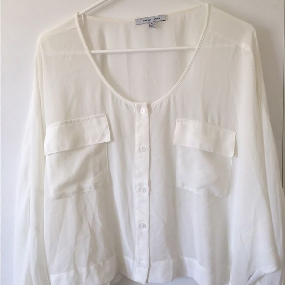 Perfect white sheet blouse Worn once Naked Zebra Tops Blouses