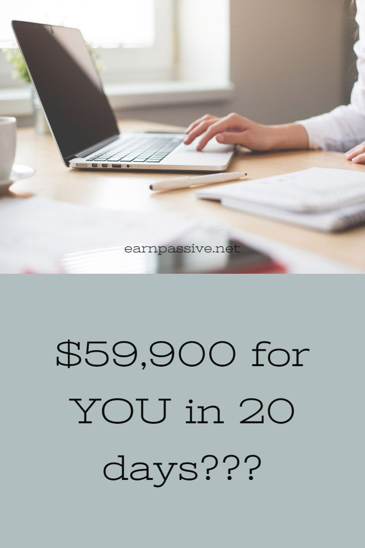 $59,900 for YOU in 20 days??? When you start working online it is easy to get overwhelmed and quickly distracted. It is important to remain focused and create a clear path to where you want to go with your online business.