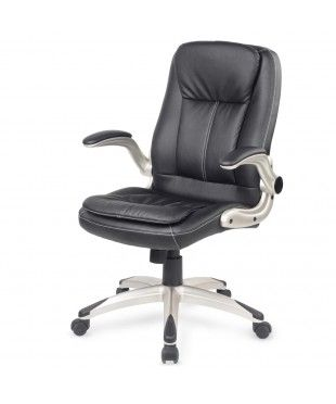 Black PU Leather Office Chair