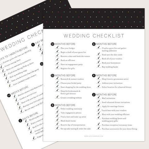 wedding checklist editable free in 2018 wedding wedding