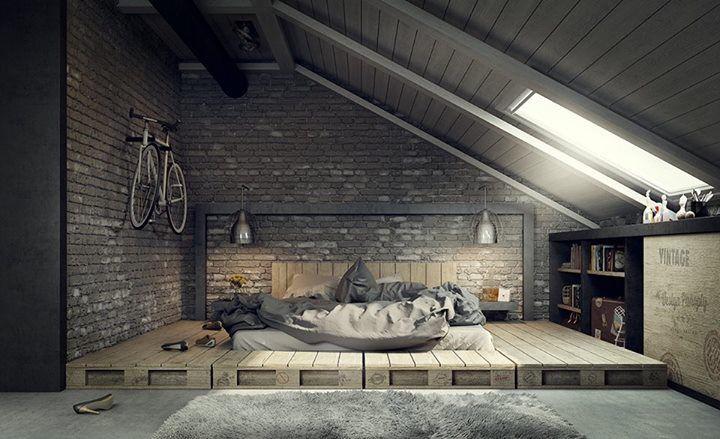 Love this add faux brick panels to your attic wall and for Arredare sottotetto non abitabile