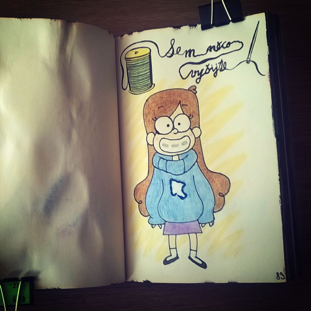 Wreck this journal #8: Sew this page Have to go with Mabel ...  Wreck This Journal Sew This Page