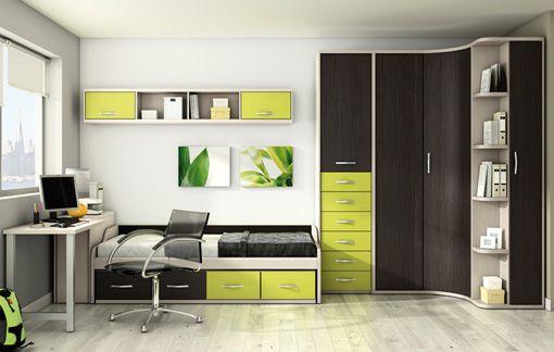 Muebles para cuartos de jovenes dormitorio pinterest for Muebles de estudio modernos