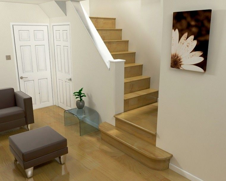 bonita-decoracion-escaleras-madera2jpg (760×608) hueco escalera