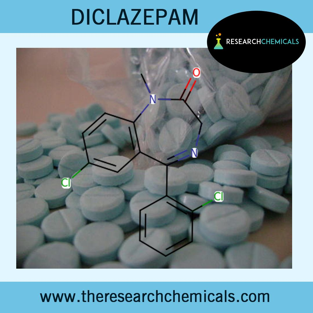 Diclazepam is known as Chlorodiazepam which is classified as a benzodiazepine research compound and is an analogue of dizepam. The chemical formula for Diclazepam is C16H12Cl2N2O with an average mass of 319.185303 Da and a Monoisotopic mass of 318.032654 Da. Visit at http://www.theresearchchemicals.com/best-seller-8/diclazepam.html for buying Diclazepam online.