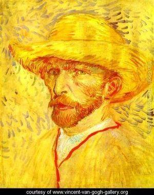 Autoportrait au chapeau de paille 1 - 1887.