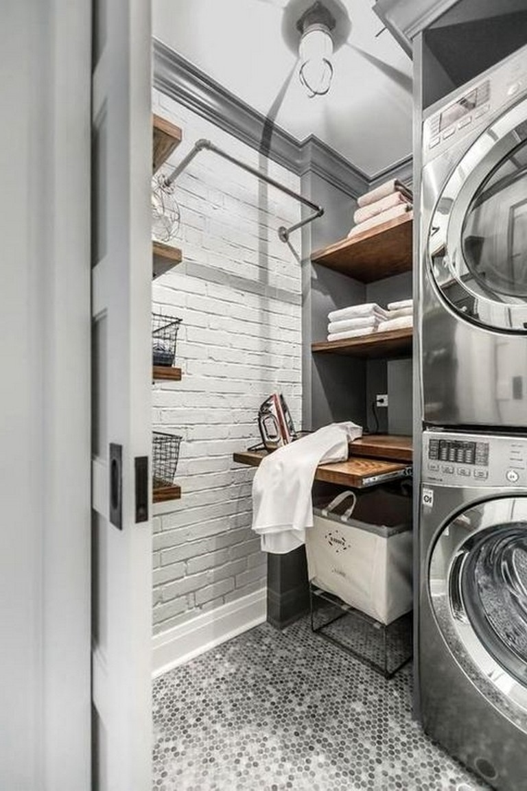 50 modern minimalist laundry room ideas for small space on extraordinary small laundry room design and decorating ideas modest laundry space id=43812
