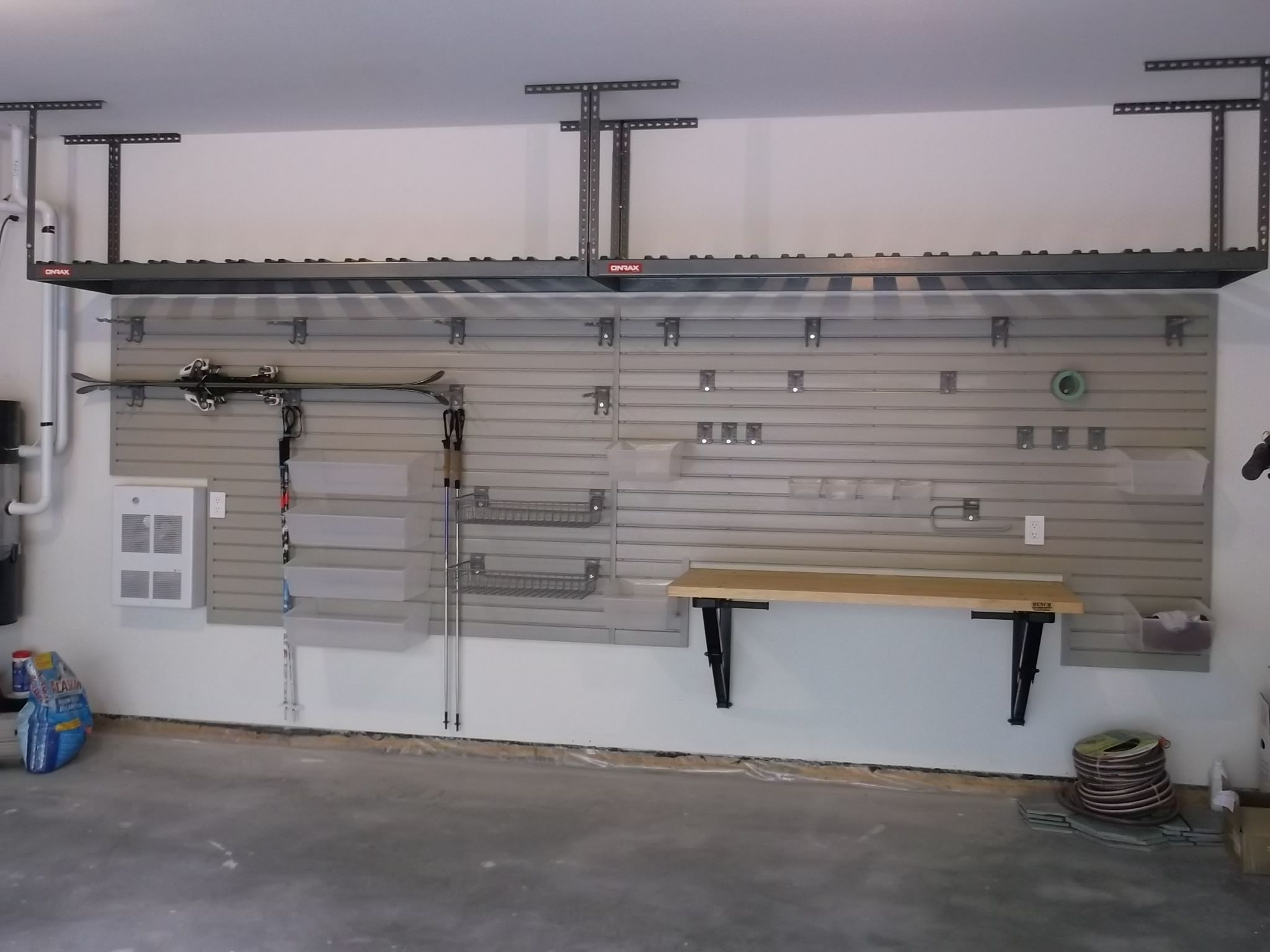 slatwall tools rack pin wall garage with in milano slat for bike grey and