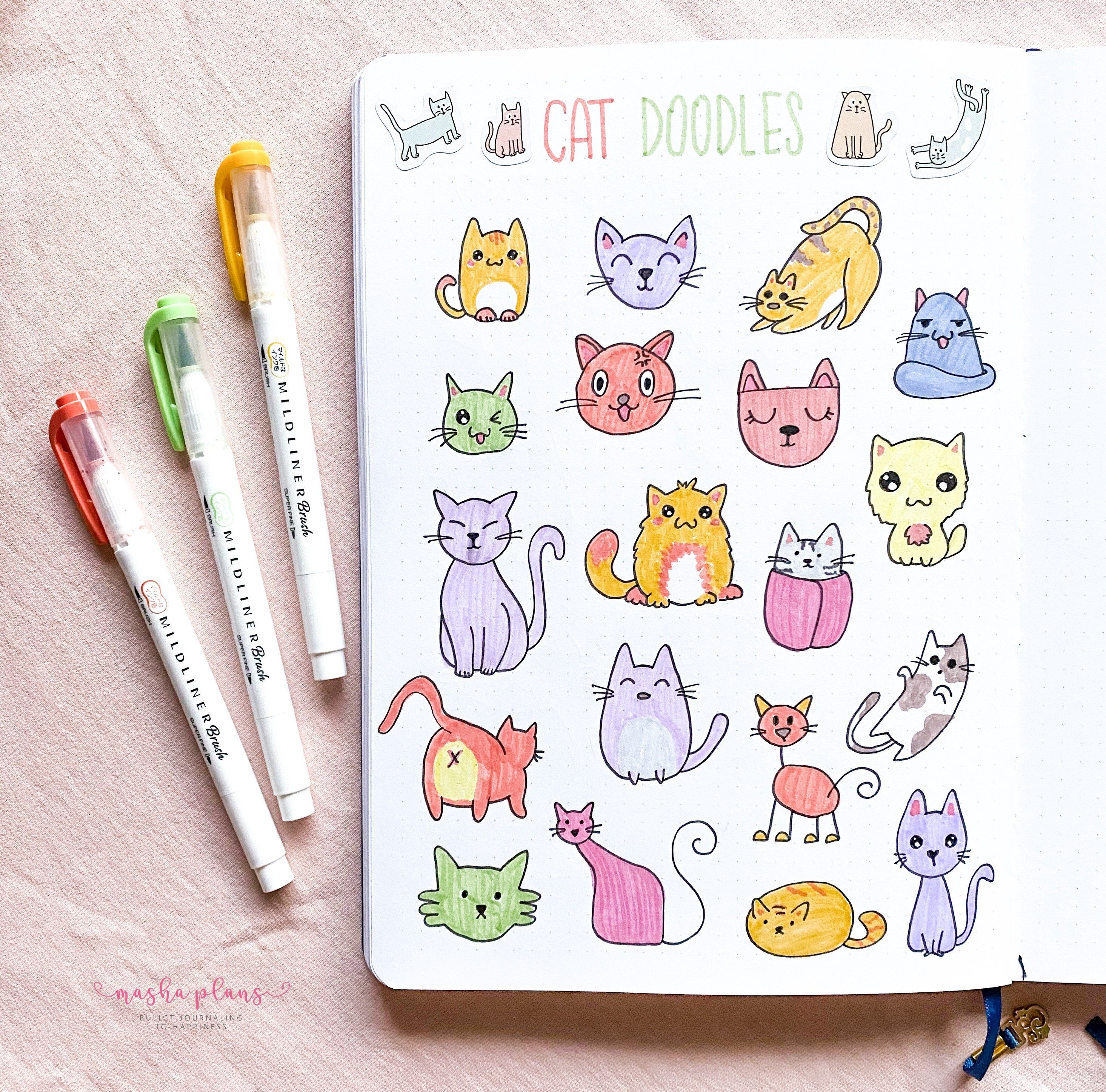 Cat Doodles In