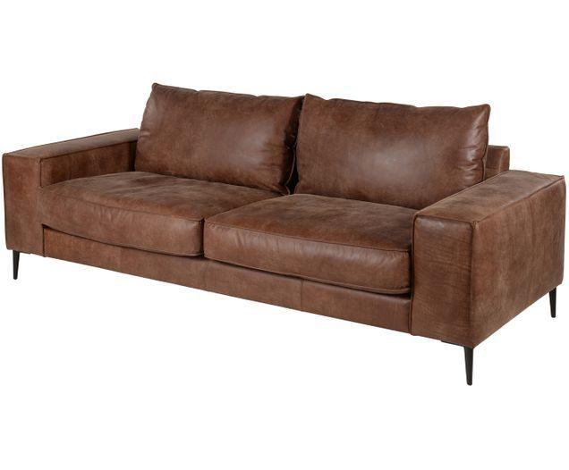 Divano In Pelle 3 Posti.Divano In Pelle Brett 3 Posti Decor Sofa Couch
