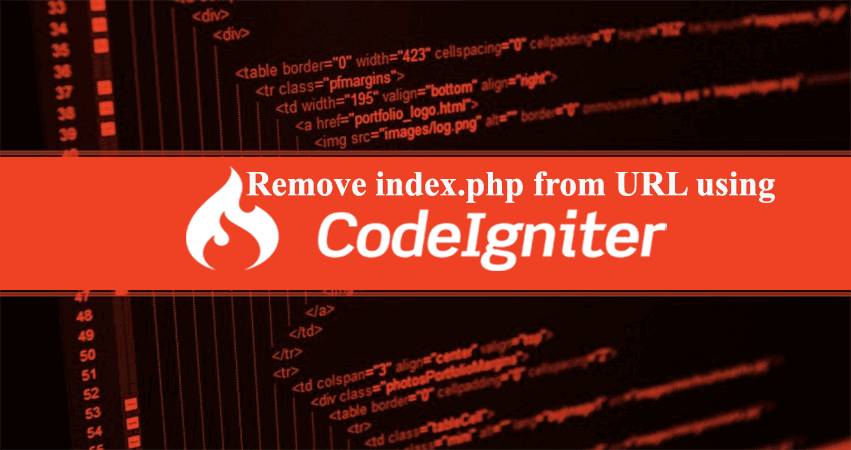 How To Remove Index Php From Url In Codeigniter Web Design Course Install Facebook Portfolio Logo