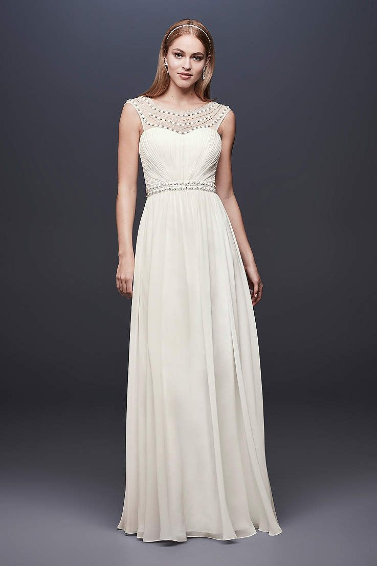 View cap sleeves long wedding dress at davidus bridal bridal