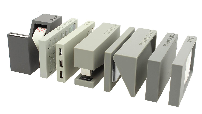 Set de bureau Lexon 7 pices Gris achat accessoire bureau design