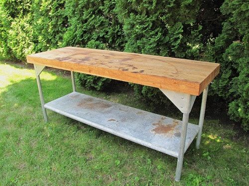 Vintage Maple Work Bench or Table by TheWits on Etsy, $1100.00