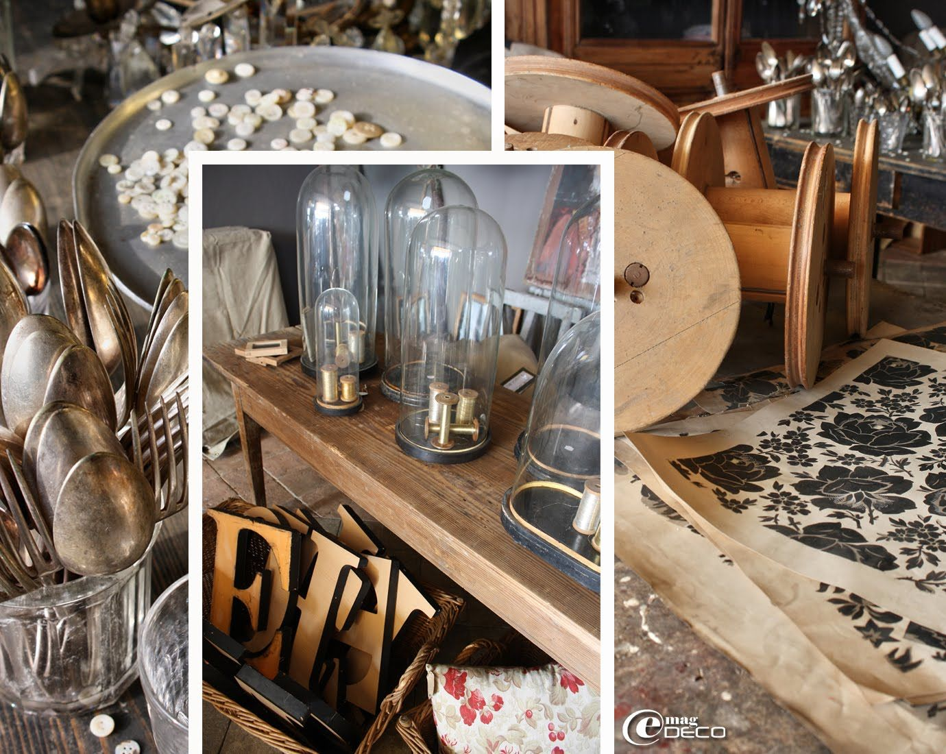 e magdeco magazine de d coration l 39 int rieur vintage d 39 une chineuse industrial chic. Black Bedroom Furniture Sets. Home Design Ideas