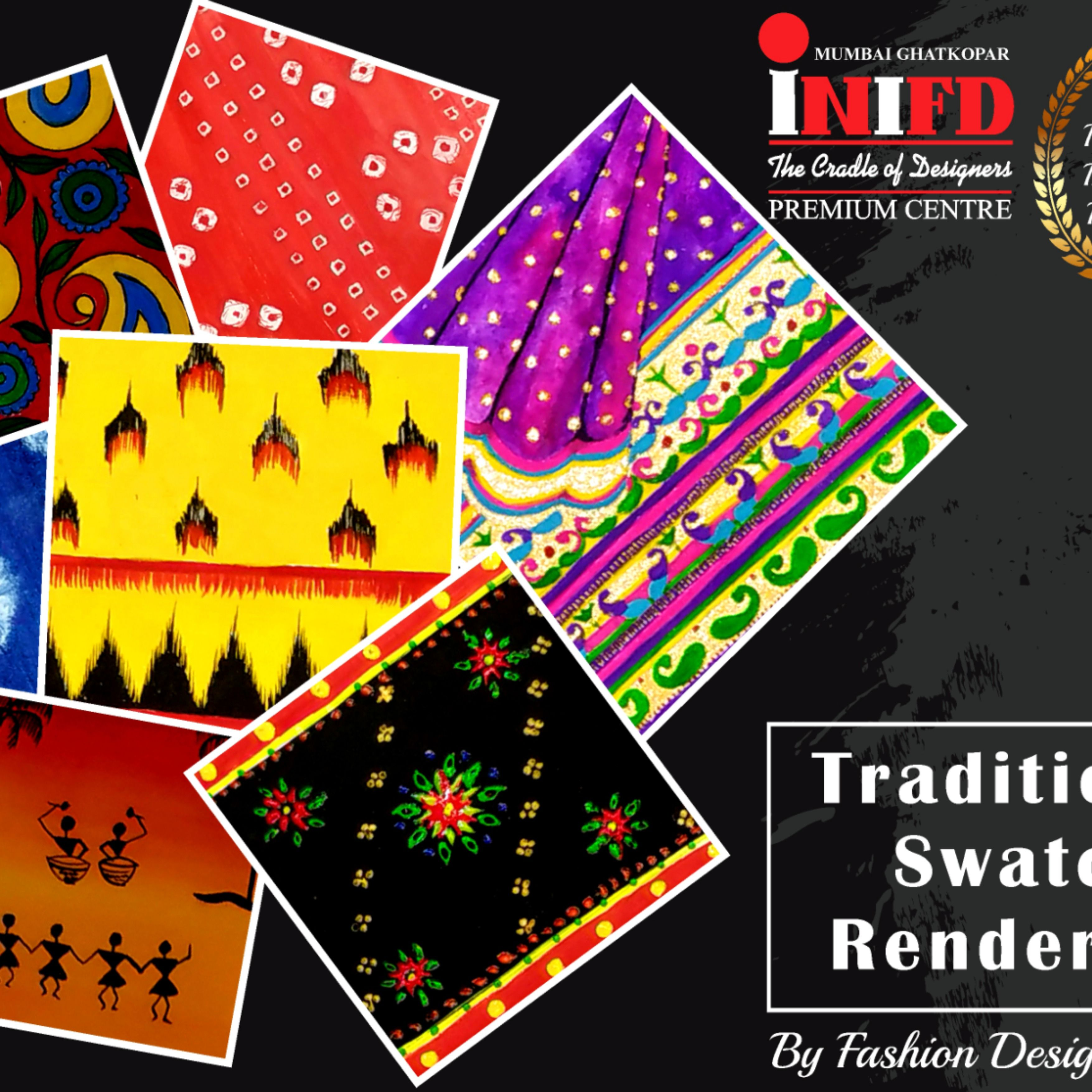 Traditional Swatch Rendering Explore Your Passion For Fashion With Inifd Mumbai Ghatkopar To Know More About In 2020 Interior Design Institute Design Course Design