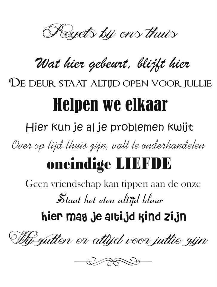 Bekend Familie tekst | Mooie, leuke teksten. | Pinterest @JW-34