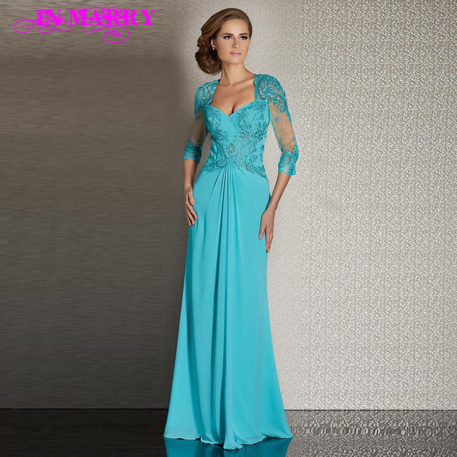 vestidos de noche con manga larga turquesa - Buscar con Google ...