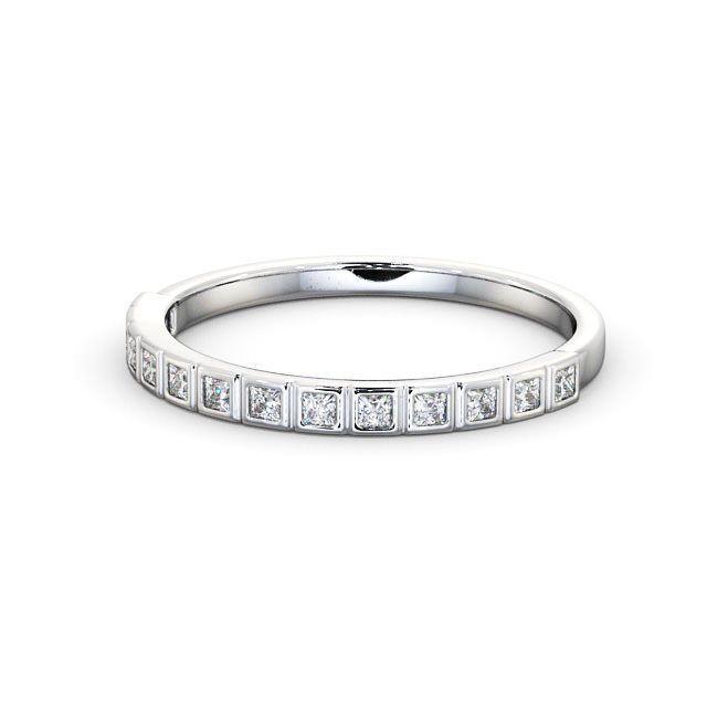 IGI Certificate Princess Diamond Box Half Eternity Wedding Ring