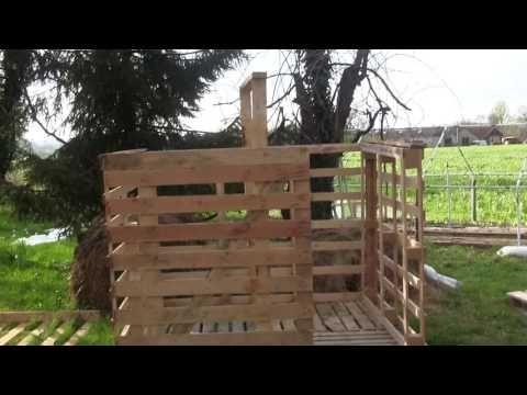 construction du0027un chalet avec récupération de palette en bois - Montage D Un Garage En Bois