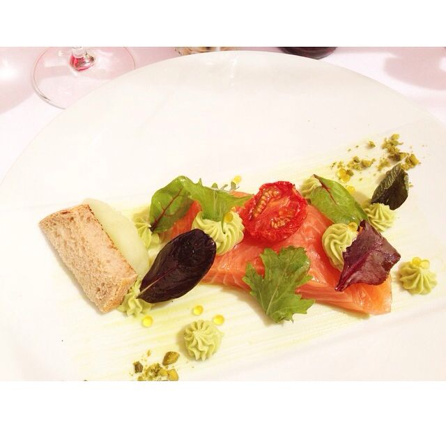 Extraordinary Salmon in 5 star hotel in St. Paul De Vence - France