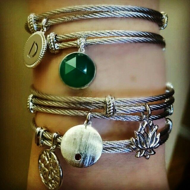 Hampton Chic Stackable Bracelet Bangles With Charms Express Yourself