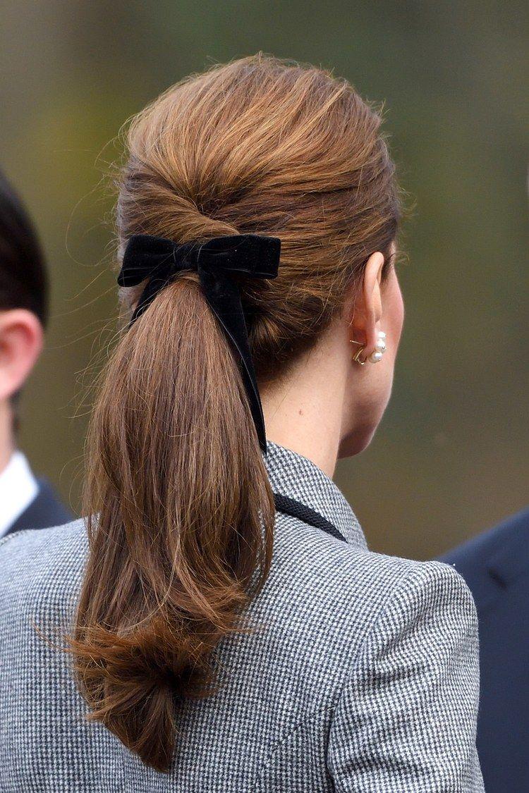 Cute Bow Hairstyle Kate Middleton Hair Velvet Hair Hairstyles For Thin Hair