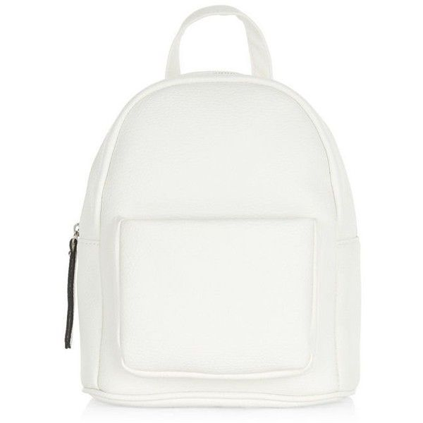 Unique Pb 0110 Matte White Small Leather Backpack found on Polyvore | Top  YA08