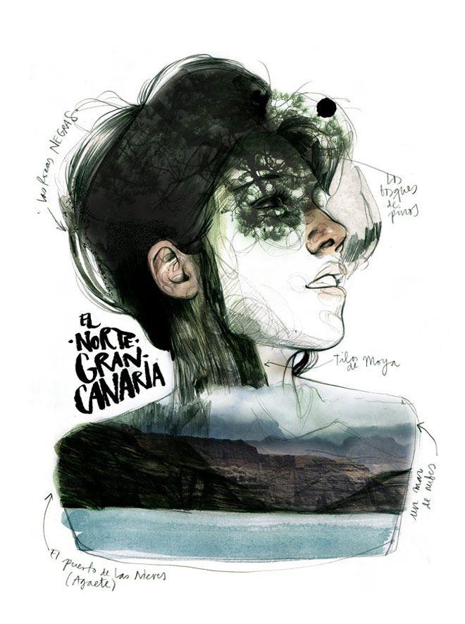 #Onthedraw, un viaje ilustrado por las Islas Canarias | Singular Graphic Design #PaulaBonet