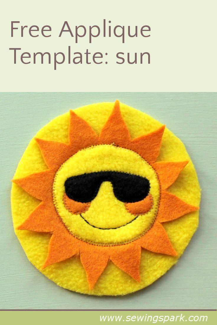 Free appliqué template: sun
