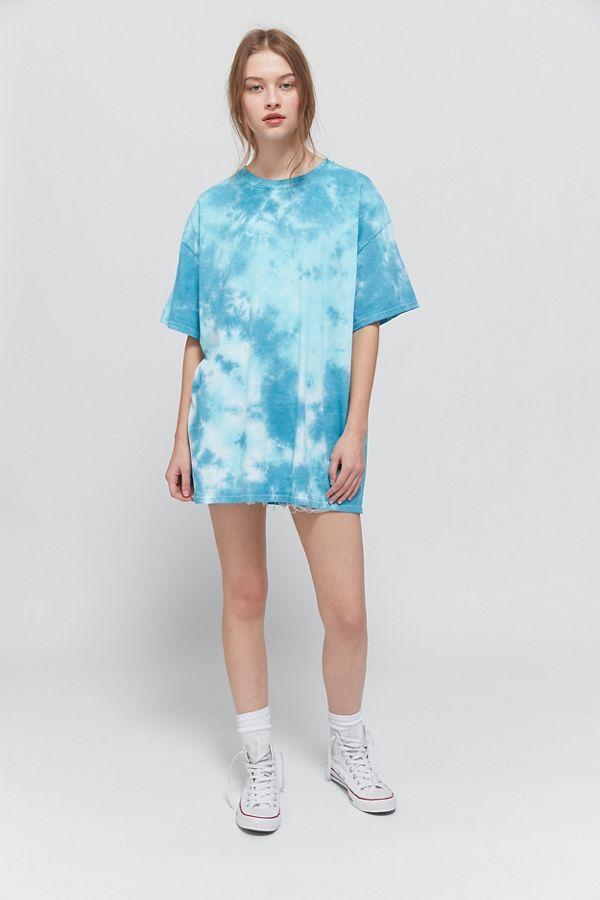 Blue Tee Modern Tshirt Blue Tshirt Tie Dye Clothing Loose Styles Women Tee Casual Tee Tie Dye Top Art Top Summer Tshirt Urban Top