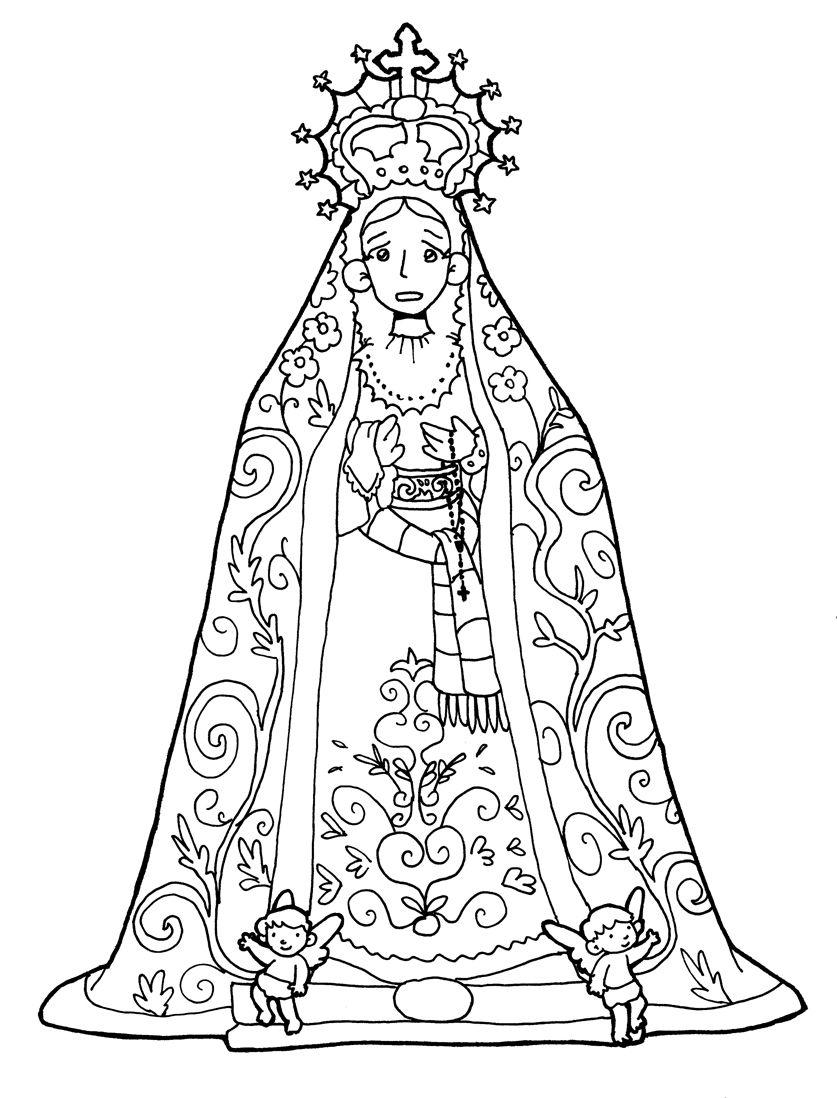 NUESTRA SEÑORA DE LAS LÁGRIMAS de Jaén para pintar. | Virgen María ...