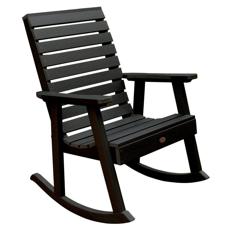 Outdoor HighwoodWeatherly Recycled Plastic Rocking Chair Black Ad Rkch2 Bke