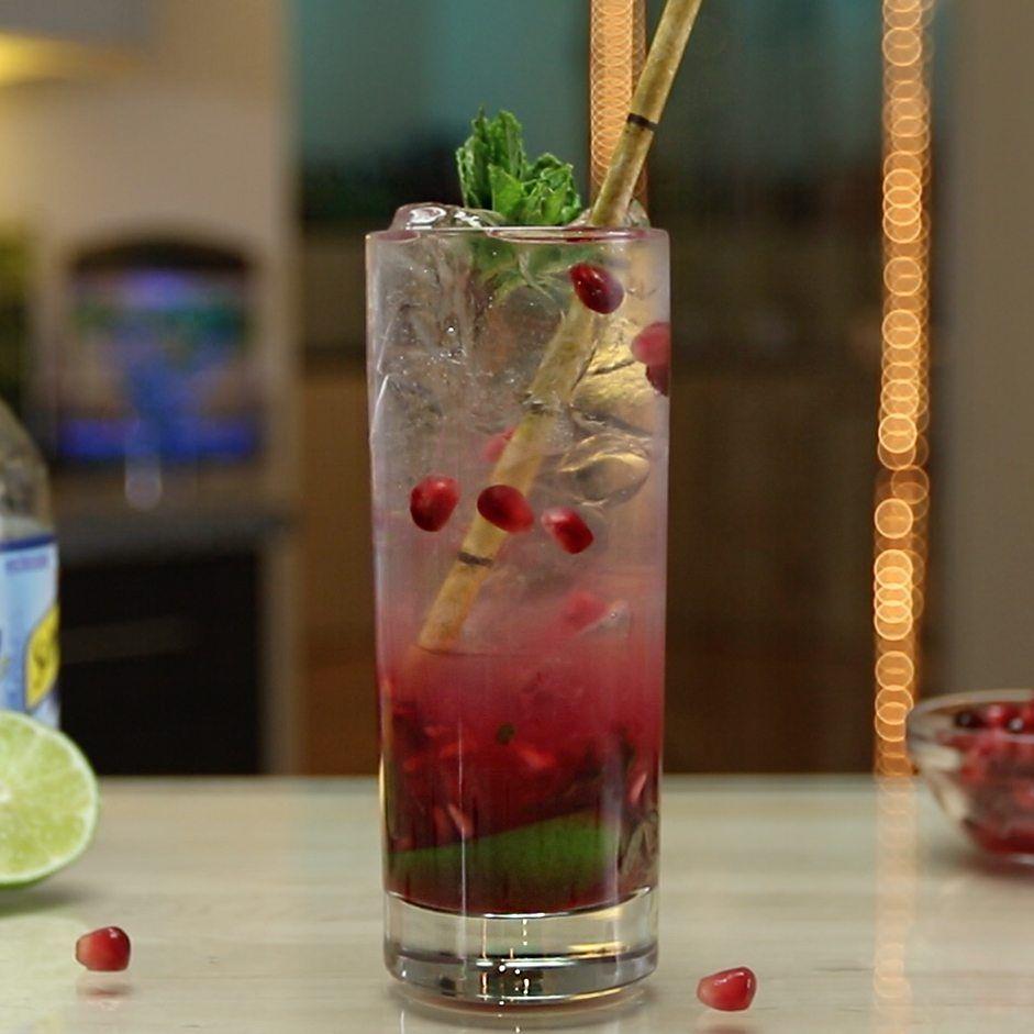 Absolut Melon Mojito Tipsy Bartender Recipe Pomegranate Mojito Tipsy Bartender Fruity