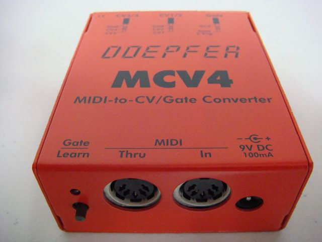 Red Doepfer Mcv4 Midi To Cv Gate Interface Interface Midi Gate
