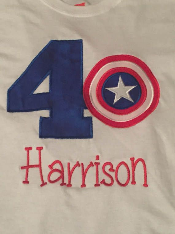 Captain America Avengers Applique Embroidery By