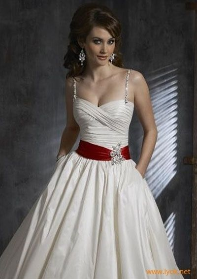 Wedding Dresses With Red Accents Dress Accent