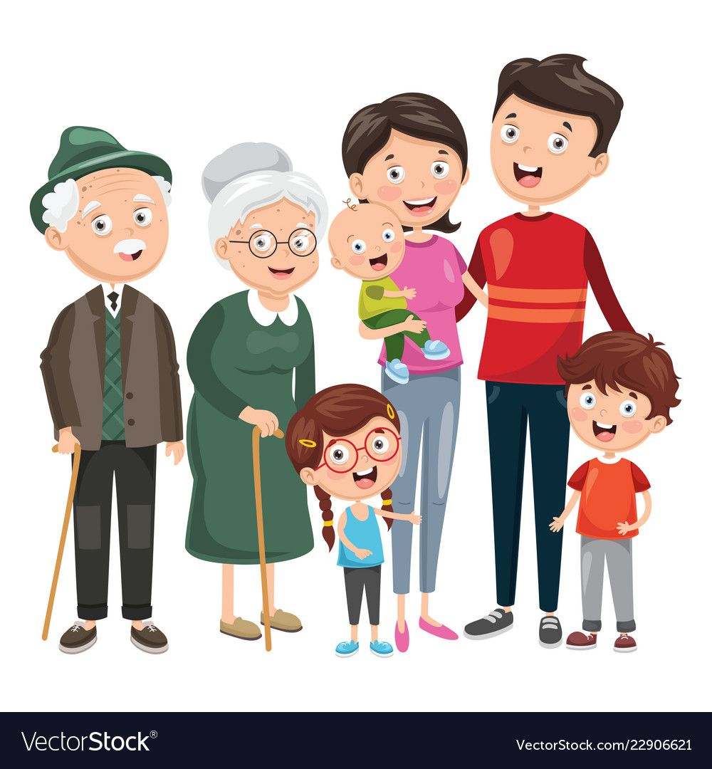 Vector Illustration Of Happy Family Download A Free Preview Or High Quality Adobe Illustrator Ai Eps Pdf And High Family Sketch Family Vector Family Cartoon
