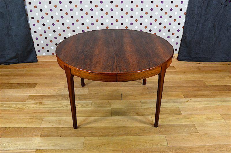 Table Design Scandinave En Palissandre De Rio Levitan Vintage 1960 Mobilier De Salon Table Ronde Design Et Table Design