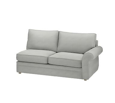 Pearce Sectional Down Basketweave Slub R Lvsl Ash