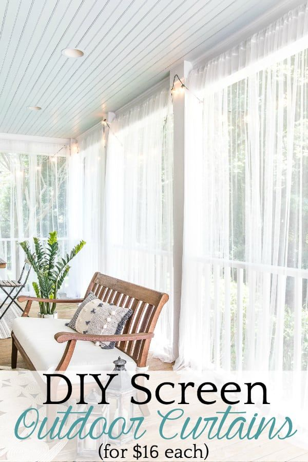 DIY Outdoor Curtains and Screened Porch for Under $100 - Bless'er House