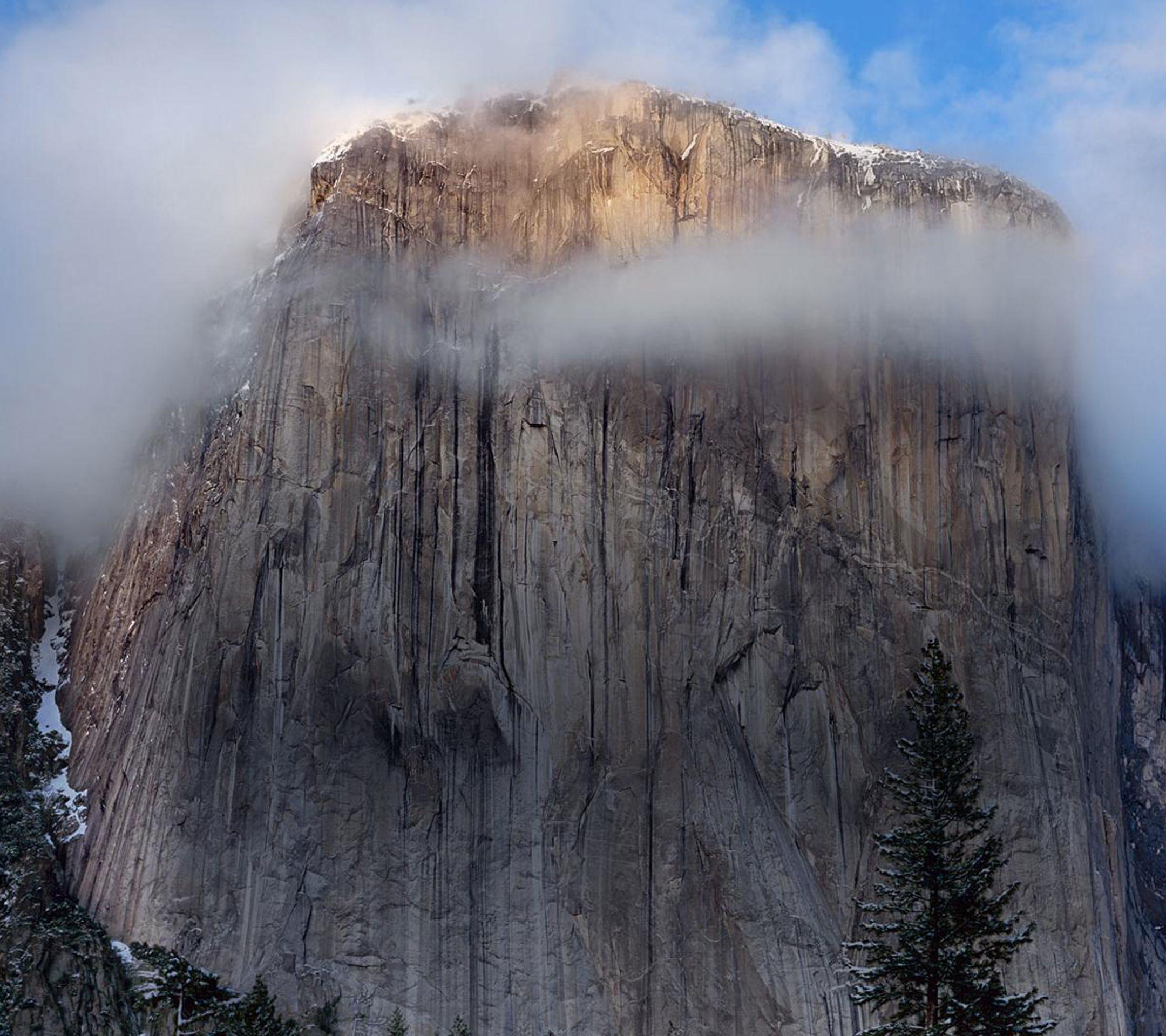 download osx yosemite cliff fog ipad wallpaper hd