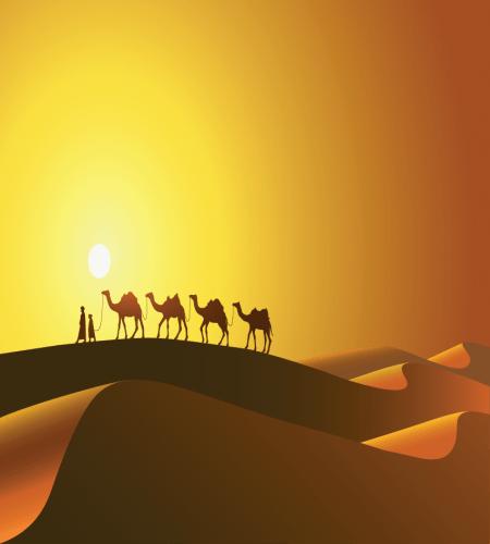 رمال الصحراء مع الجمال الابل تصميم ابداعي ملف مفتوح Biblia