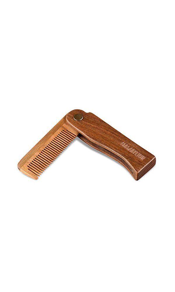 26$ - Hawatour Folding Wood Comb Pocket Size Hair and Beard