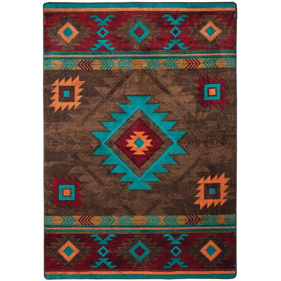 Southwest Rugs Whiskey River Turquoise Rug Collection: Whisky River Rug Turquoise In 2019