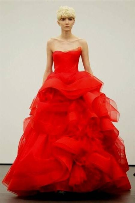 Awesome Red Wedding Dresses Vera Wang 2018-2019 | Beautiful Colorful ...